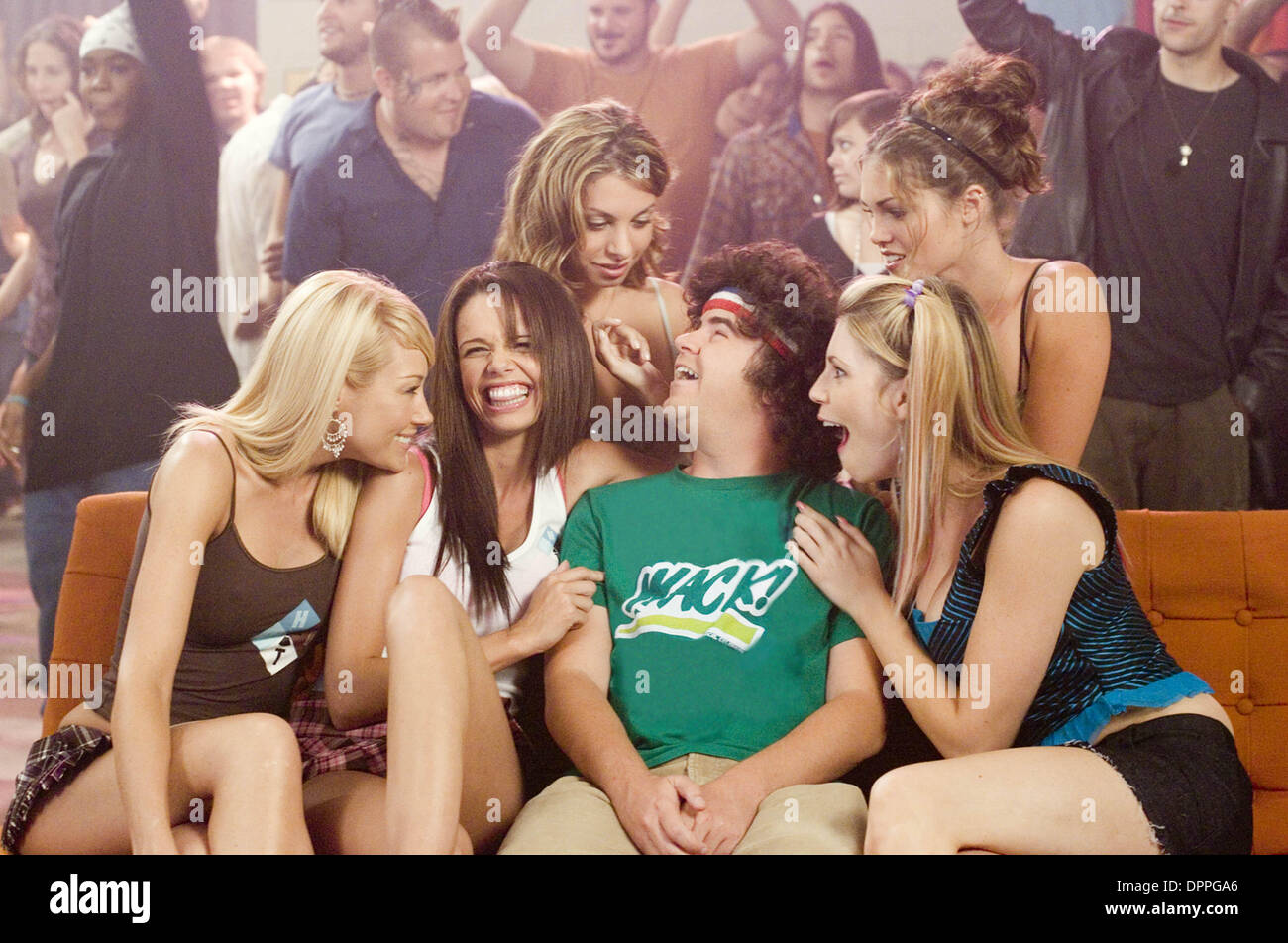 July 10, 2006 - K49443ES.''ACCEPTED''.TV-FILM STILL. SUPPLIED BY    Glen (ADAM HERSCHMAN) and his female accomplices embrace the good life of college in the comedy Accepted(Credit Image: © Globe Photos/ZUMAPRESS.com) - Stock Image