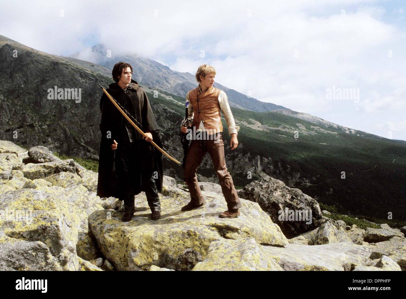 Nov. 27, 2006 - Murtagh (Garrett Hedlund) and Eragon (Ed Speleers) prepare for a momentous battle.    .K51219ES.'' Stock Photo