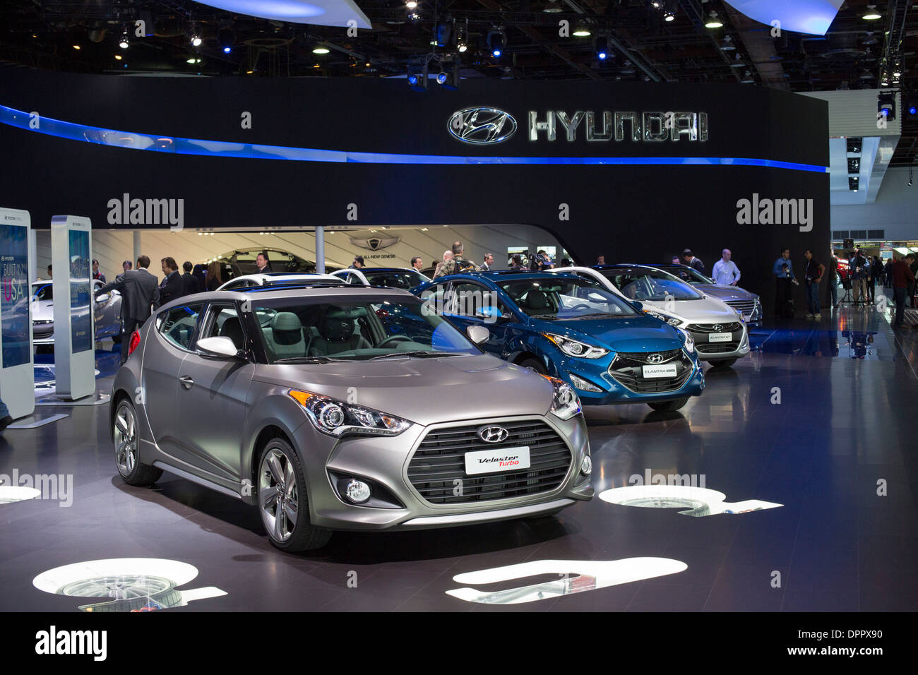Detroit, Michigan   The Hyundai Display At The North American International  Auto Show.