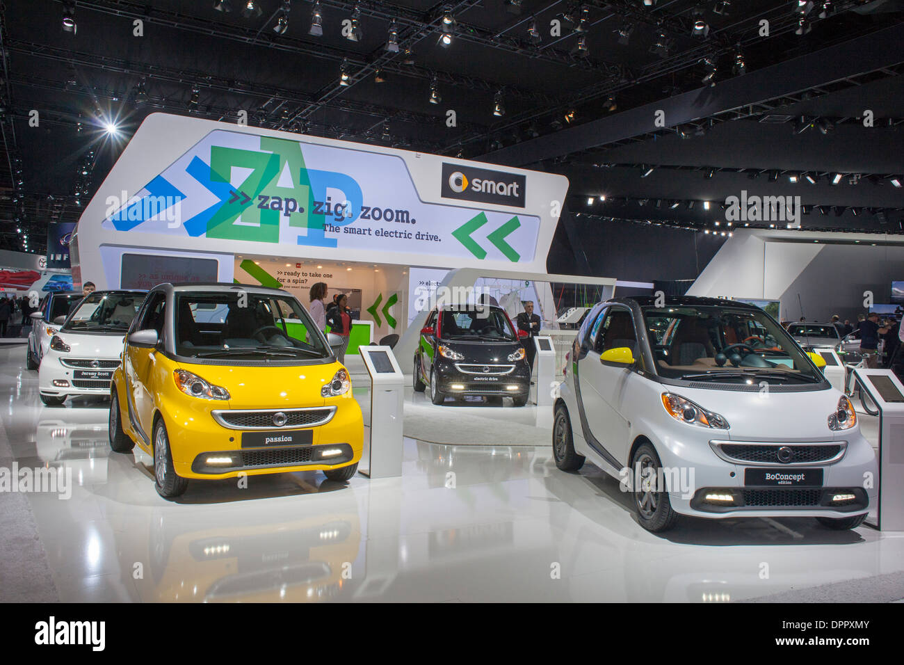 Detroit, Michigan - A display of Smart cars at the North American ...