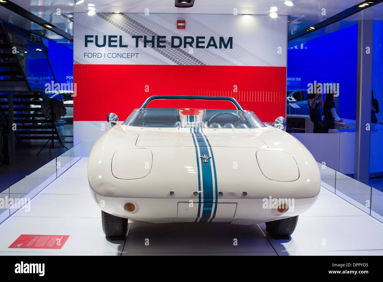 Detroit, Michigan - The 1962 Ford Mustang concept car on display at the North American International Auto Show. - Stock Image