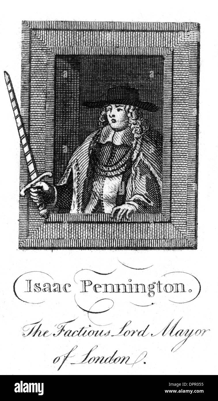 SIR ISAAC PENINGTON - 2 - Stock Image