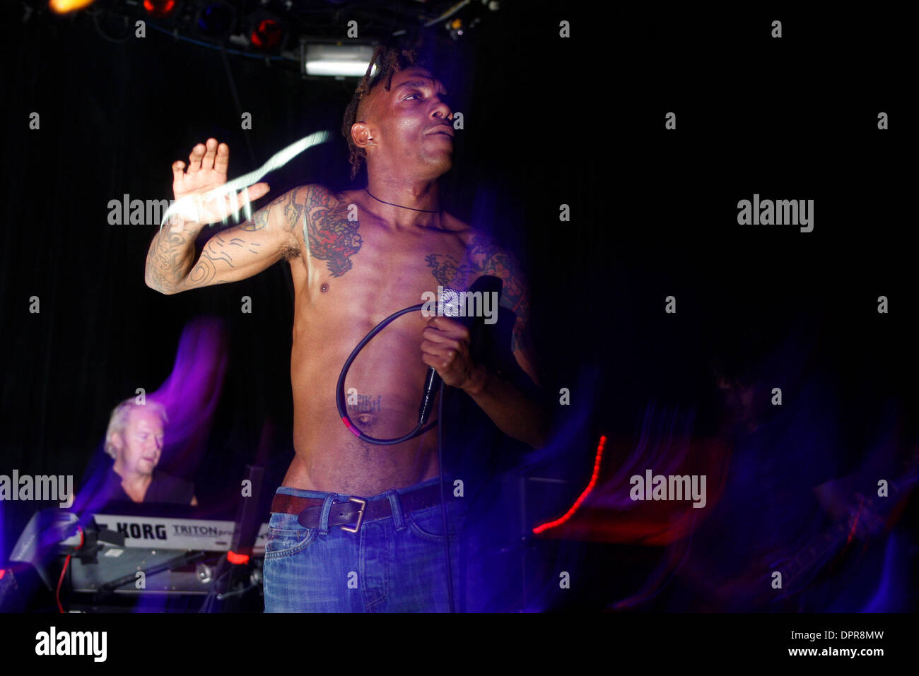 Apr 05, 2009 - New York, New York, USA - Tricky performing at The Fillmore at Irving Plaza. (Credit Image: © Aviv Small/ZUMA Press) - Stock Image