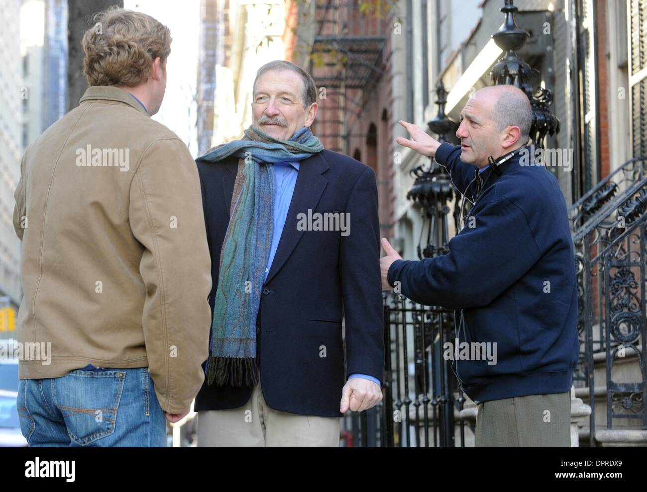 Dec 04, 2008 - Manhattan, New York, USA - 'This Old House' taping with host KEVIN O'CONNOR (L) with special guest CHARLES LOCKWOOD (C) and director DAVID VOS (R) at the historic Merchant's House Museum in the East Village.  (Credit Image: © Bryan Smith/ZUMA Press) RESTRICTIONS:  * New York City Newspapers Rights OUT * - Stock Image