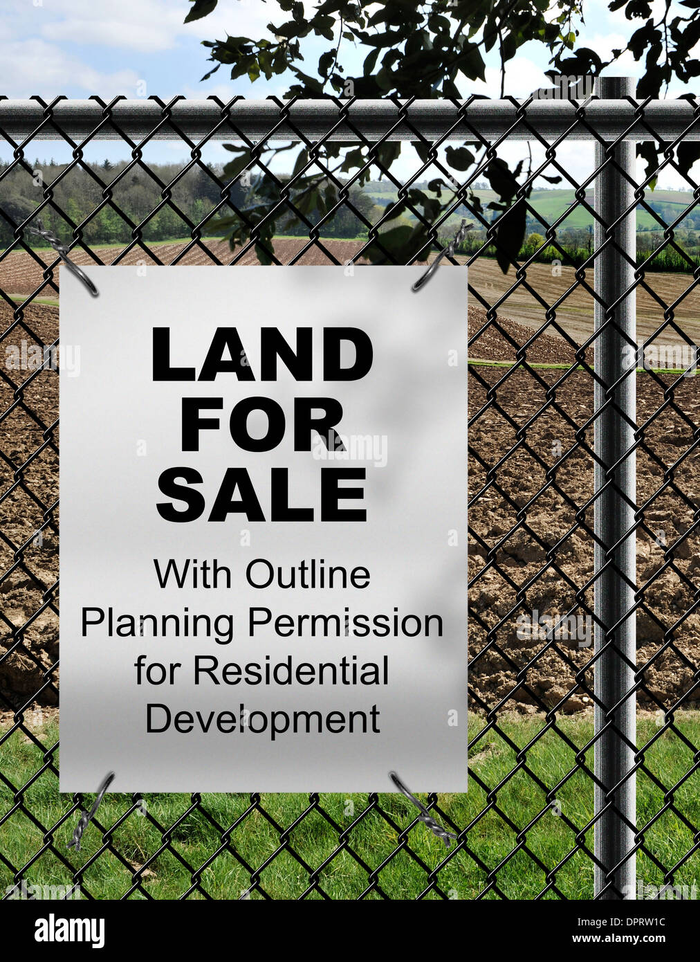 land for sale with outline planning permission for residential stock rh alamy com Electrical Wiring Residential Textbook Electrical Wiring Residential Textbook