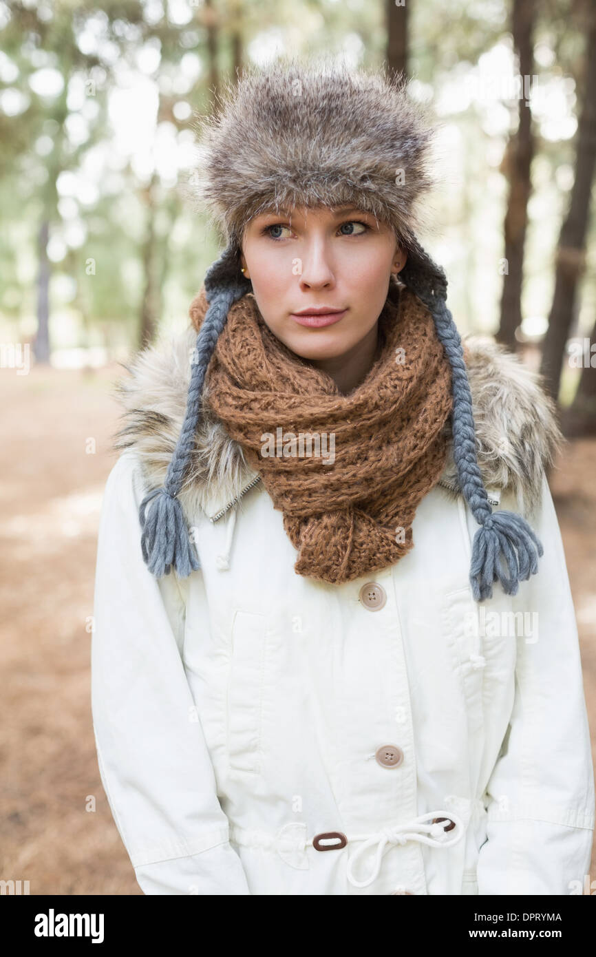 Woman Wearing Fur Stole Stock Photos Amp Woman Wearing Fur