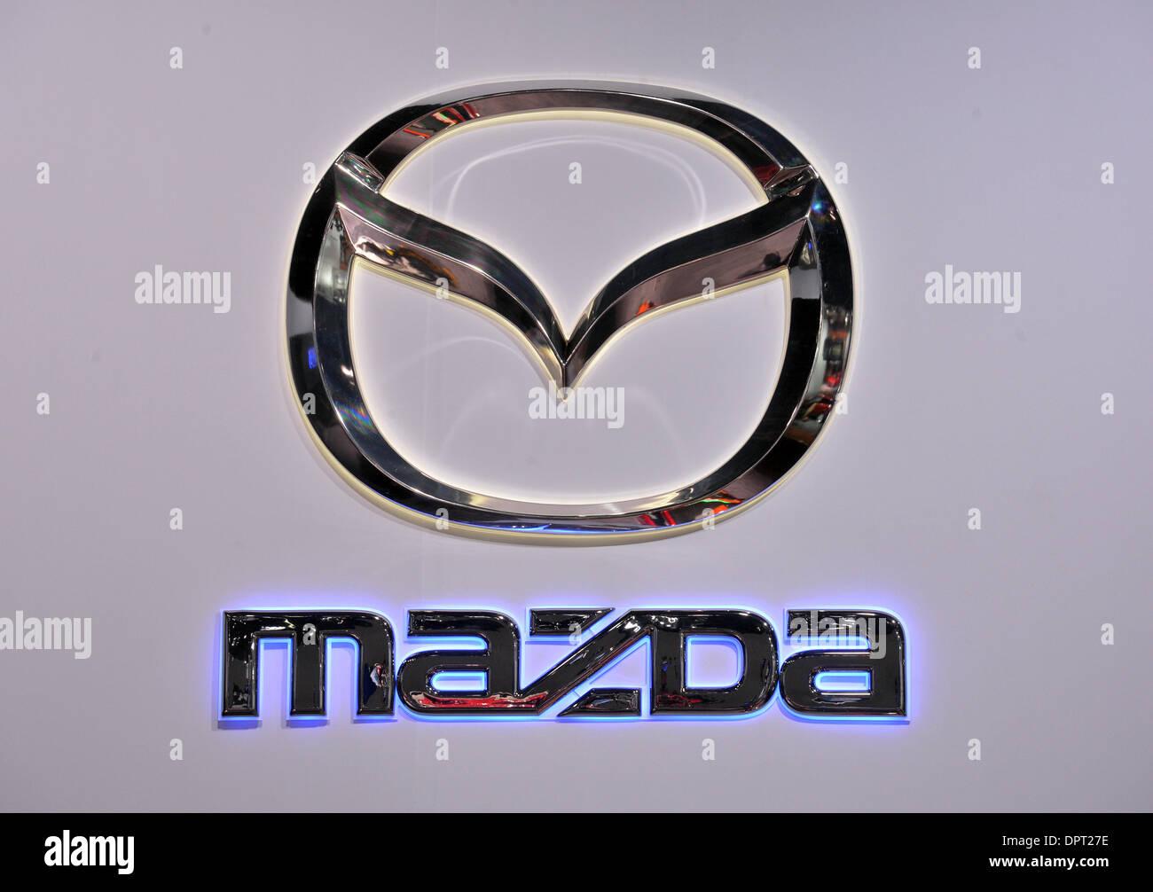 Detroit Usa 14th Jan 2014 The Mazda Logo At The North American