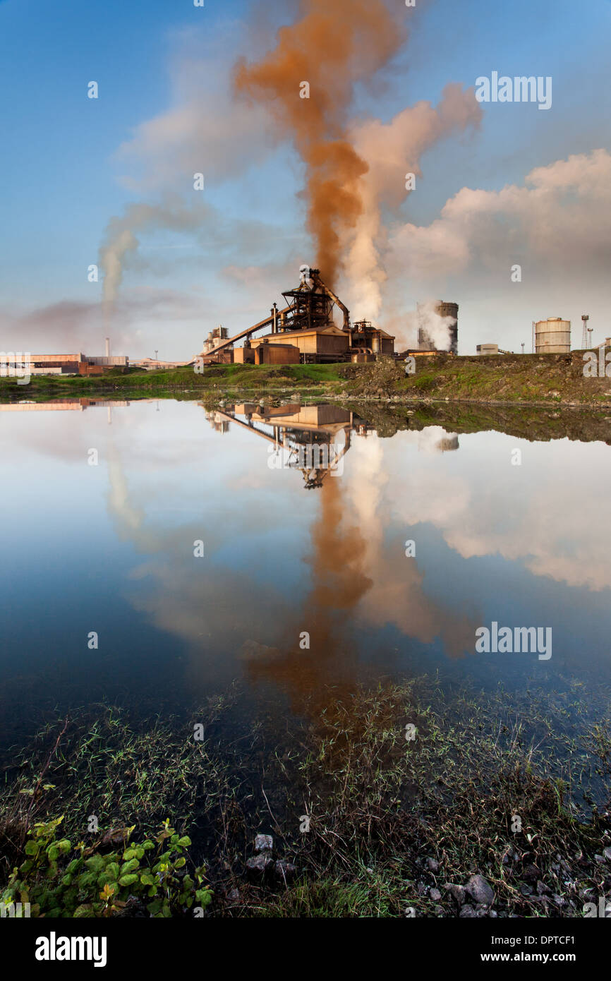 Early Morning, Corus Steel Works, Redcar, Cleveland,England - Stock Image