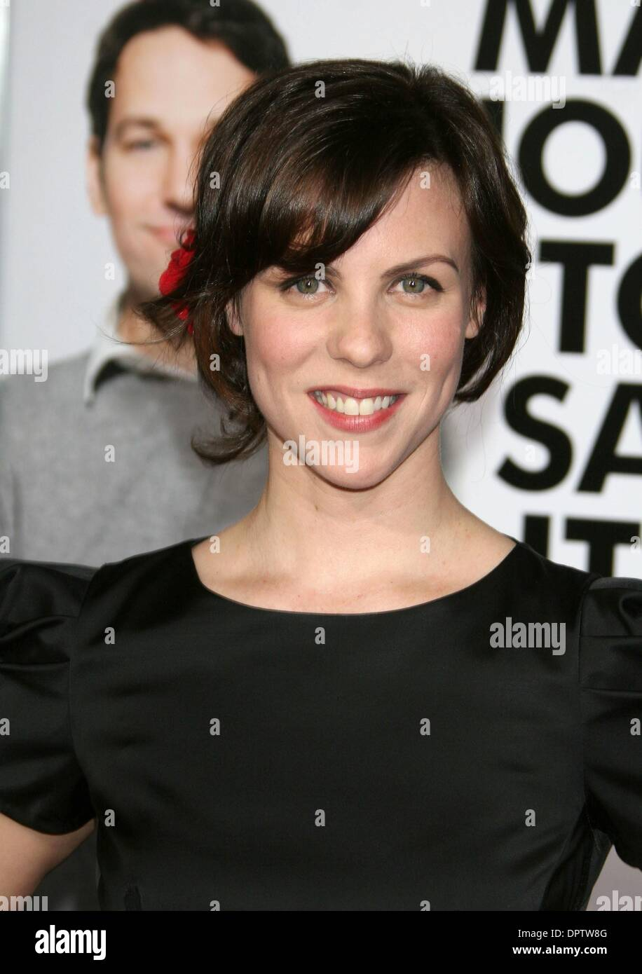 Mar 17 2009 Los Angeles California Usa Actress Sarah Burns At Stock Photo Alamy