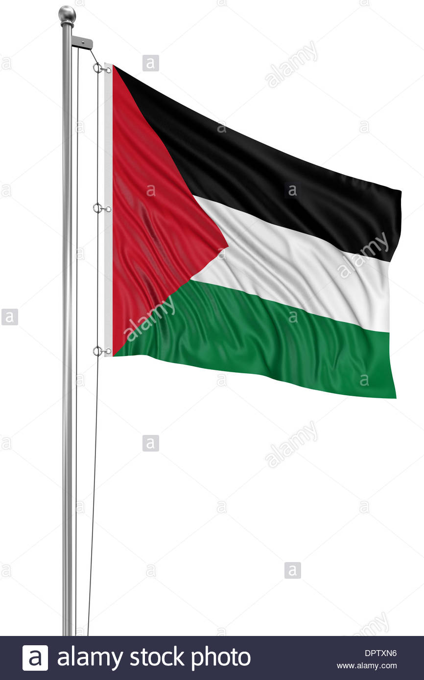 3D Palestinian flag - Stock Image