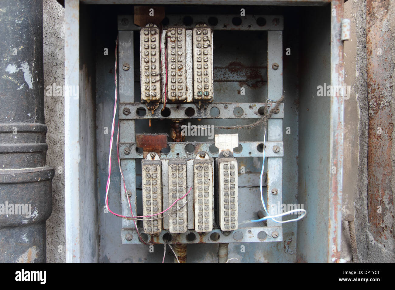 Relays Stock Photos Images Alamy Relay Electric Virginia Beach Vintage Control Power Circuits In Old Electrical Panel Image