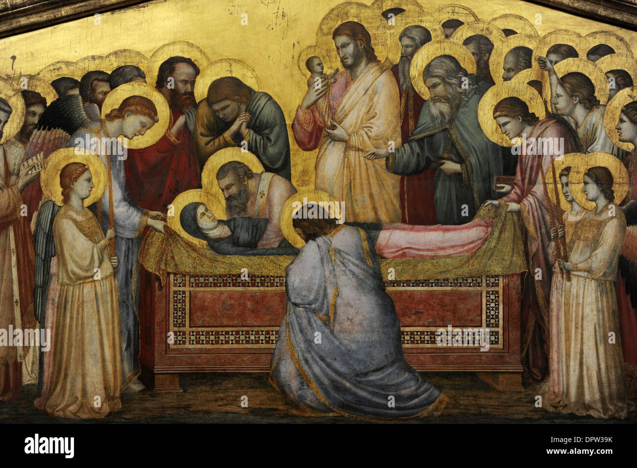 Giotto di Bondone (1267-1337). Italian painter. The Entombment of Mary, c.1310. Detail. Gemaldegalerie. Berlin. Germany. - Stock Image