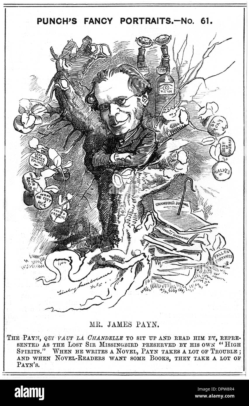 JAMES PAYN CARICATURE - Stock Image