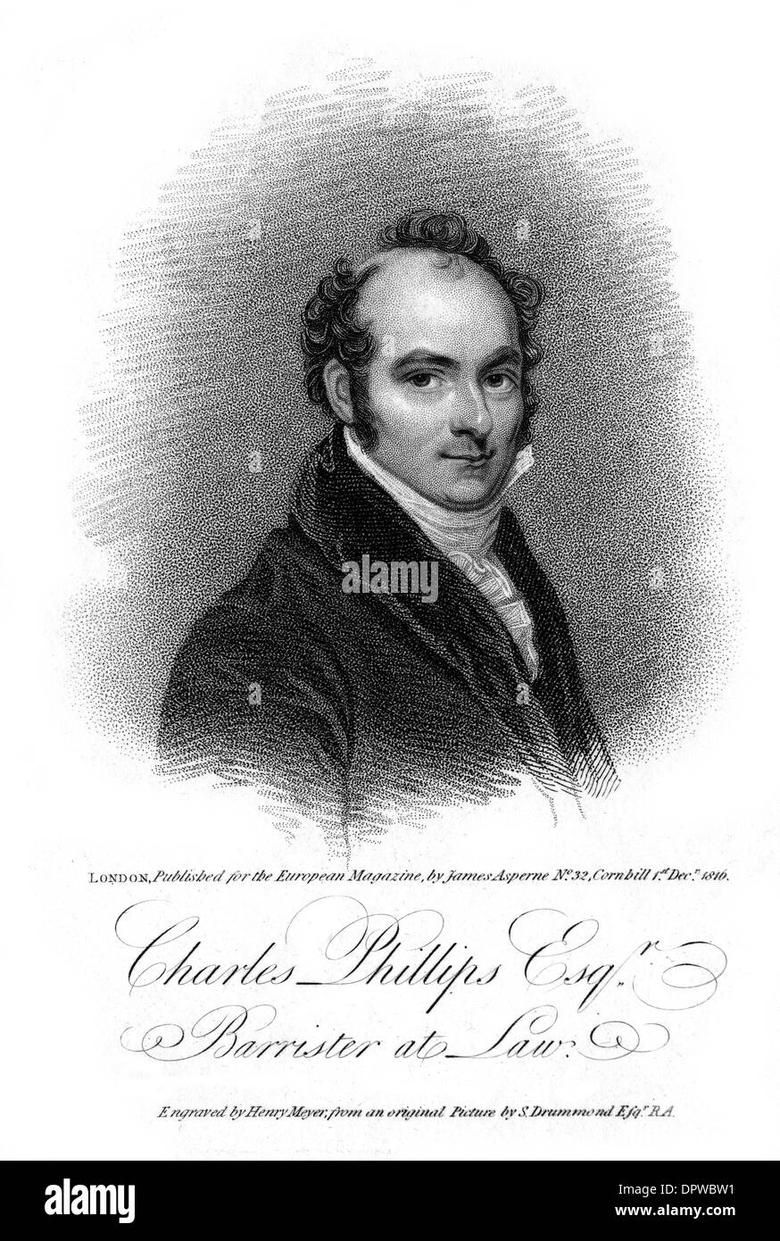 CHARLES PHILLIPS - Stock Image