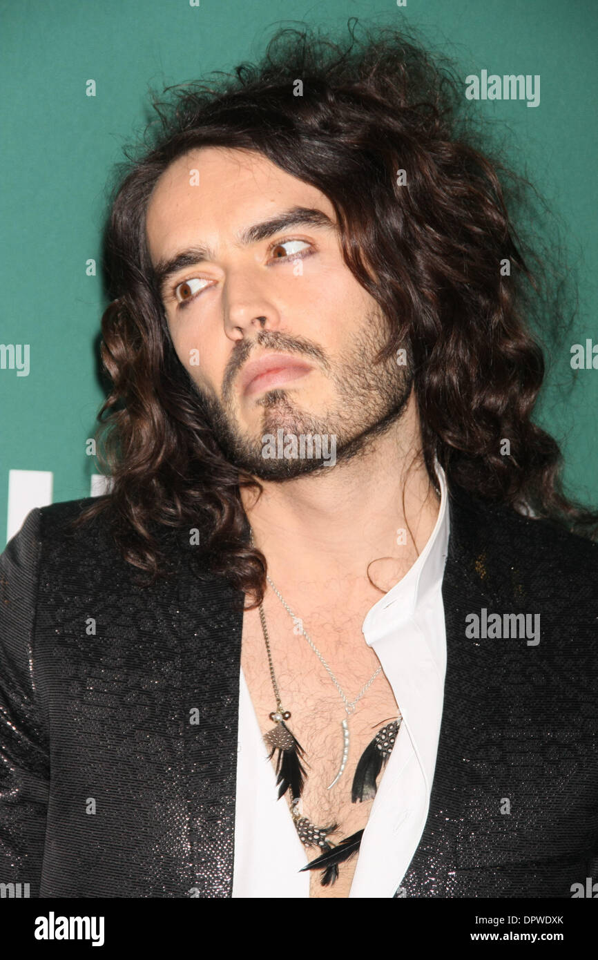 Mar 11, 2009 - New York, NY, USA - RUSSELL BRAND signs copies of 'Russell Brand: My Booky Wook' at Barnes an Noble in Union Square. (Credit Image: © Dan Herrick/KPA-ZUMA/ZUMA Press) - Stock Image