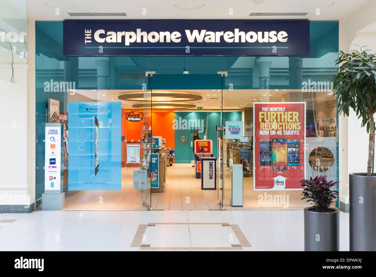 Carphone Warehouse Shop Front Retail - Stock Image