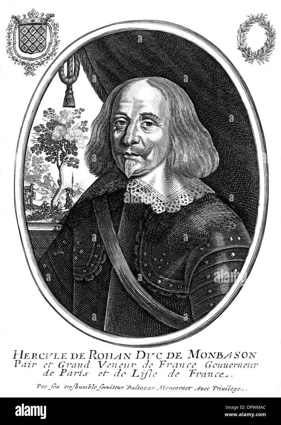 HERCULE DUC DE ROHAN - Stock Image