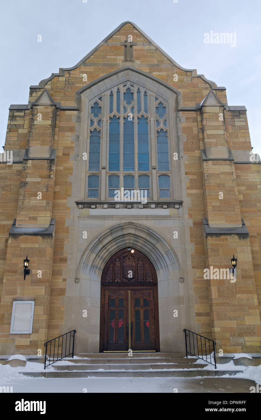 Neo Gothic Style Church Architecture In Saint Pauls West Side Neighborhood