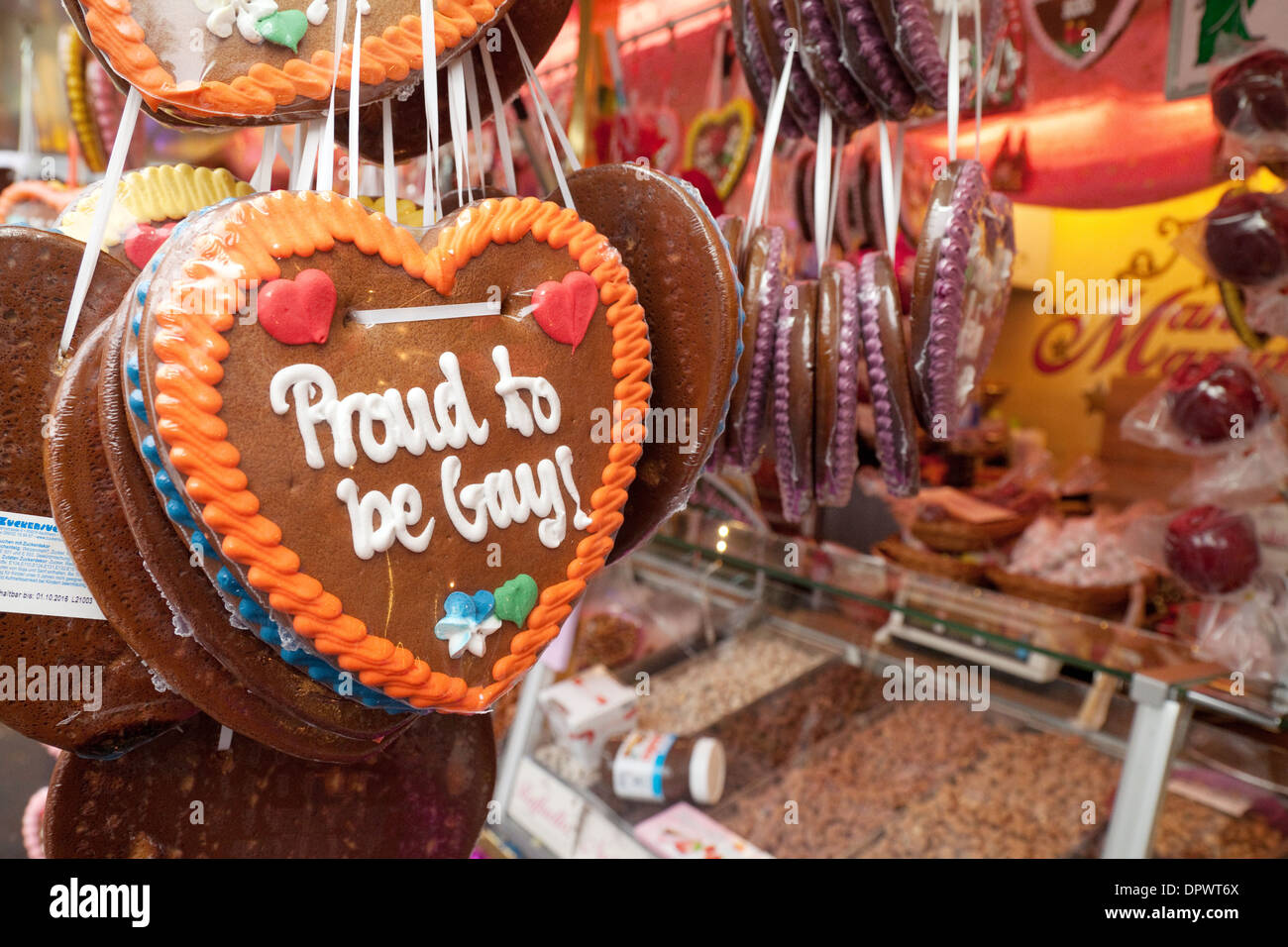 Traditional German Lebkuchen For Sale In The Gay Market Cologne