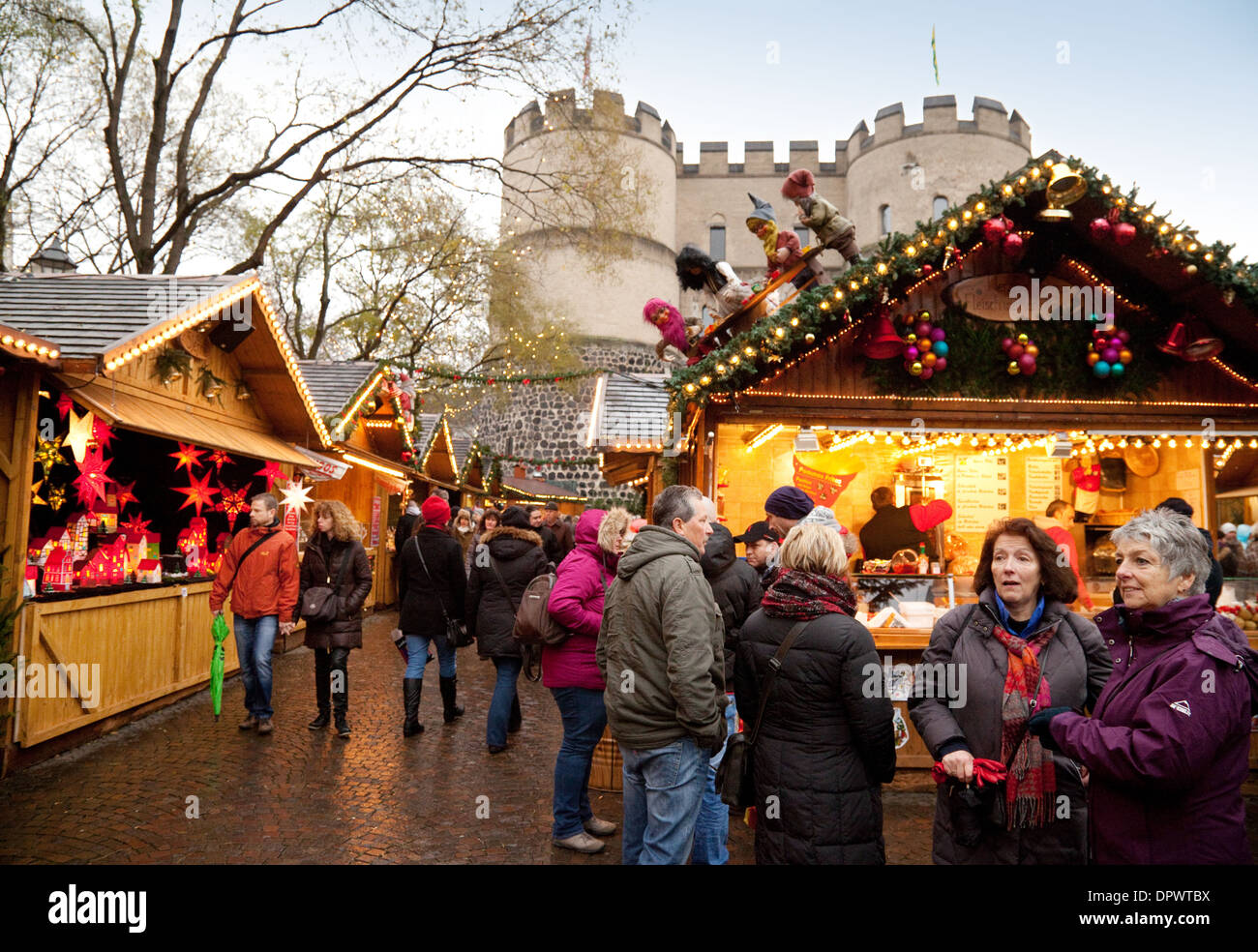 Cologne Christmas Market - people at the Market of Fairy tales, held in the Rudolfplatz, Cologne, Germany Europe - Stock Image