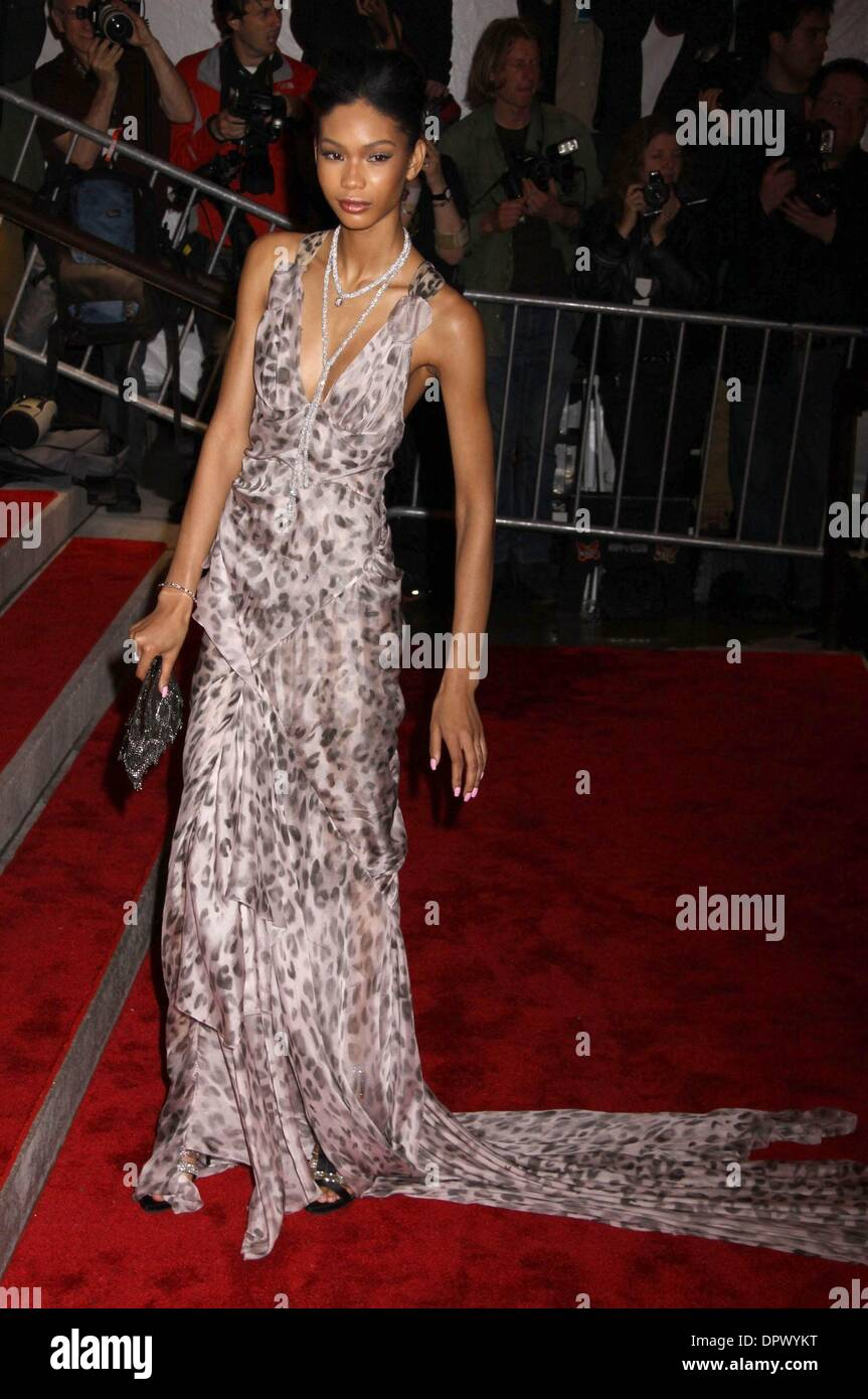 May 04, 2009 - New York, New York, USA - Model CHANEL IMAN attends the Costume Institute Gala opening of 'The Model Stock Photo