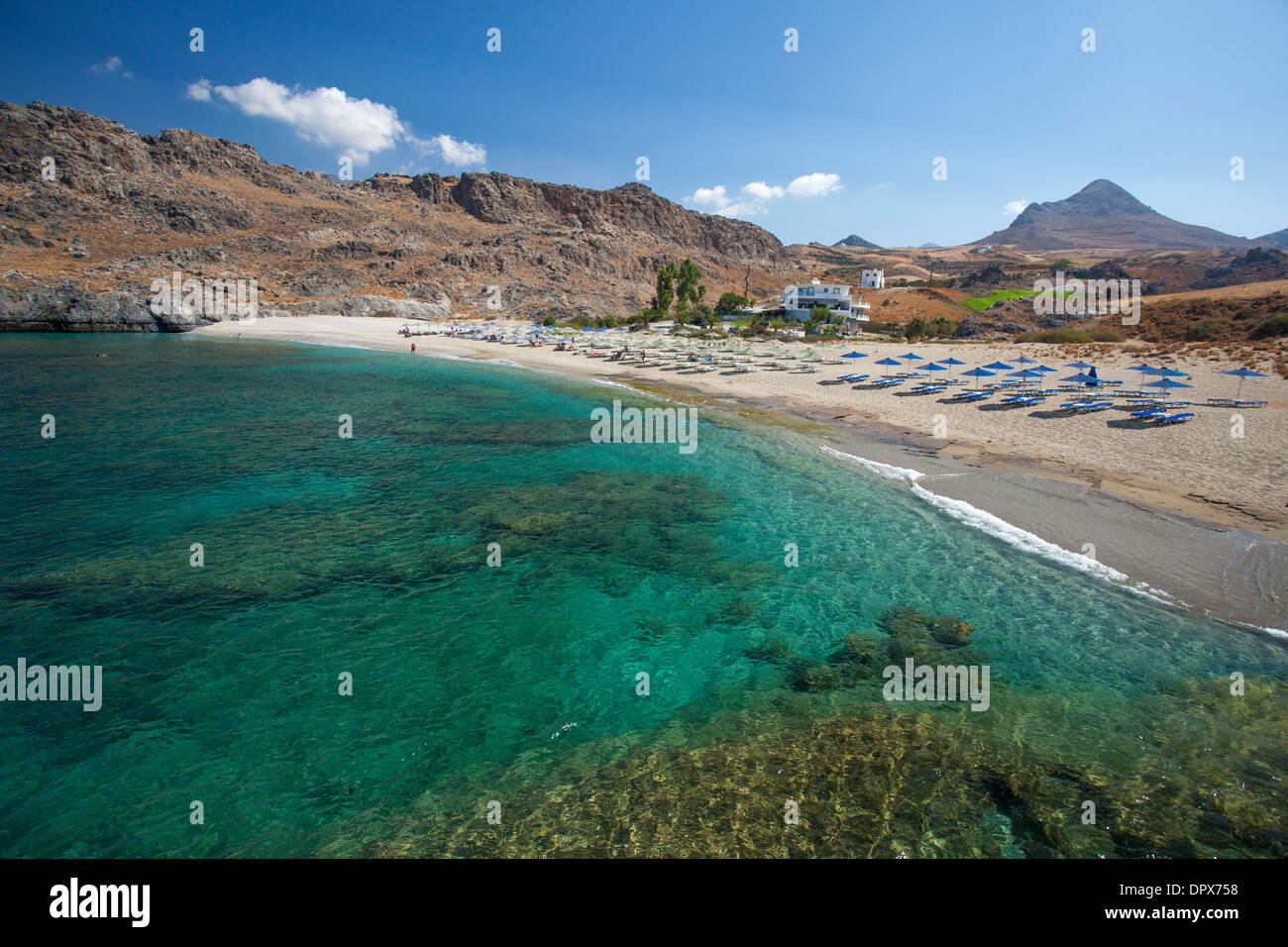Skinaria Beach, near Plakias, Rethymnon District, Crete, Greece. - Stock Image