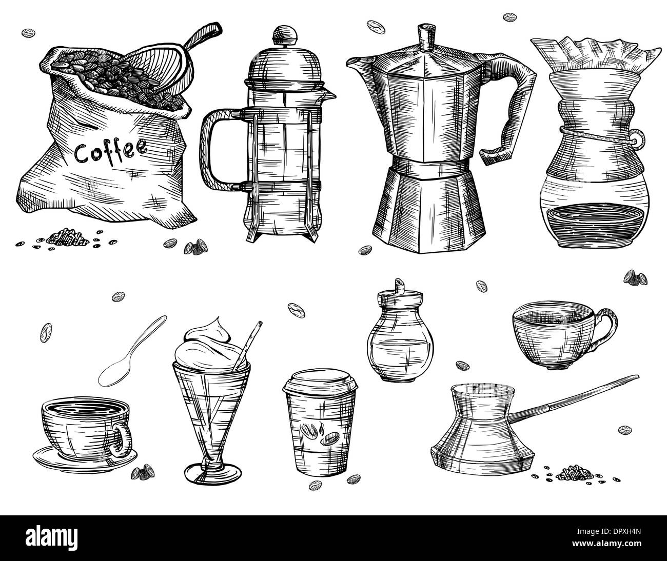 Coffee ware - Stock Image