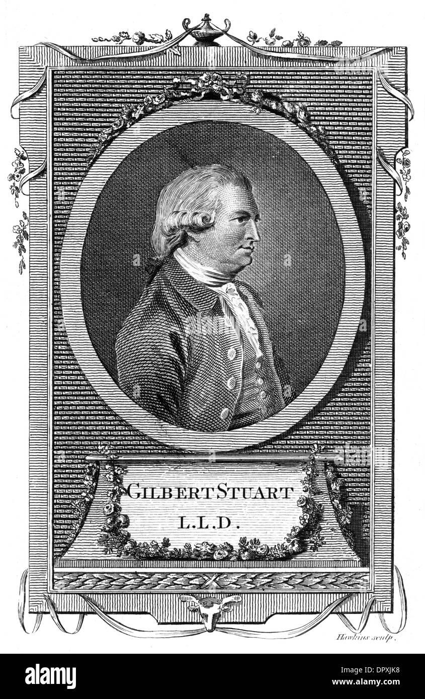 GILBERT STUART, WRITER - Stock Image