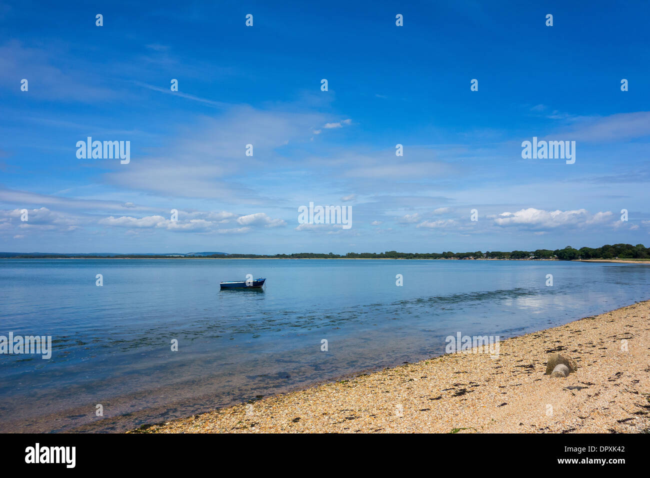 Langstone Harbour Hayling Island Hampshire - Stock Image