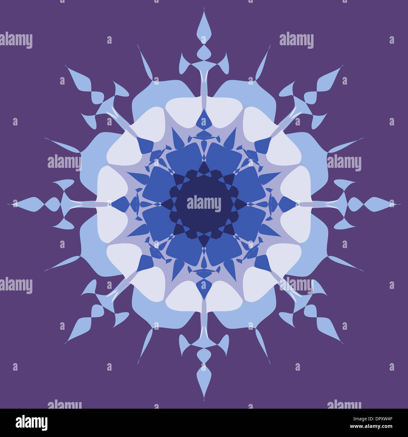 Colorful artistic mandala design Stock Photo