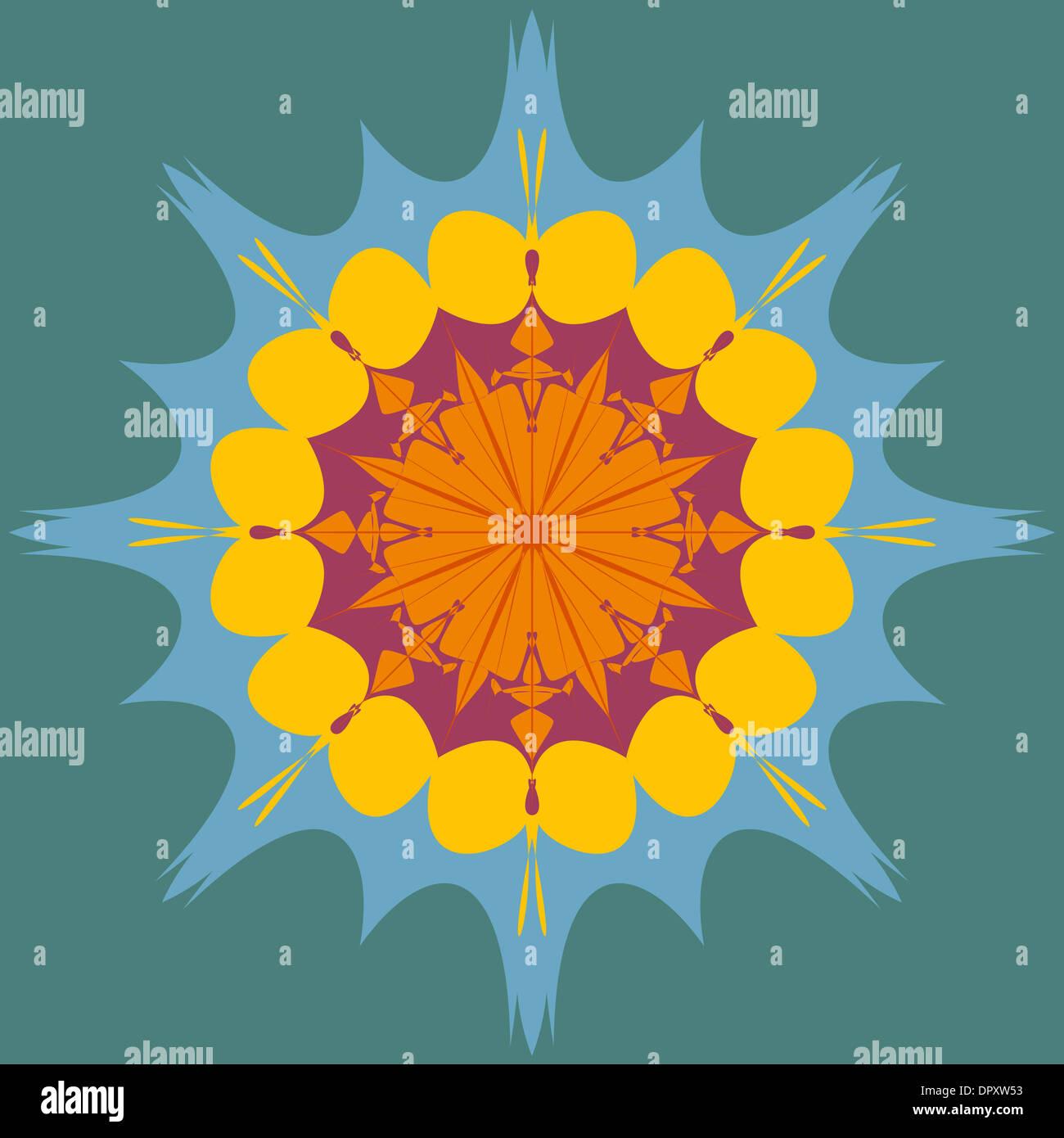 Colorful artistic mandala design Stock Photo