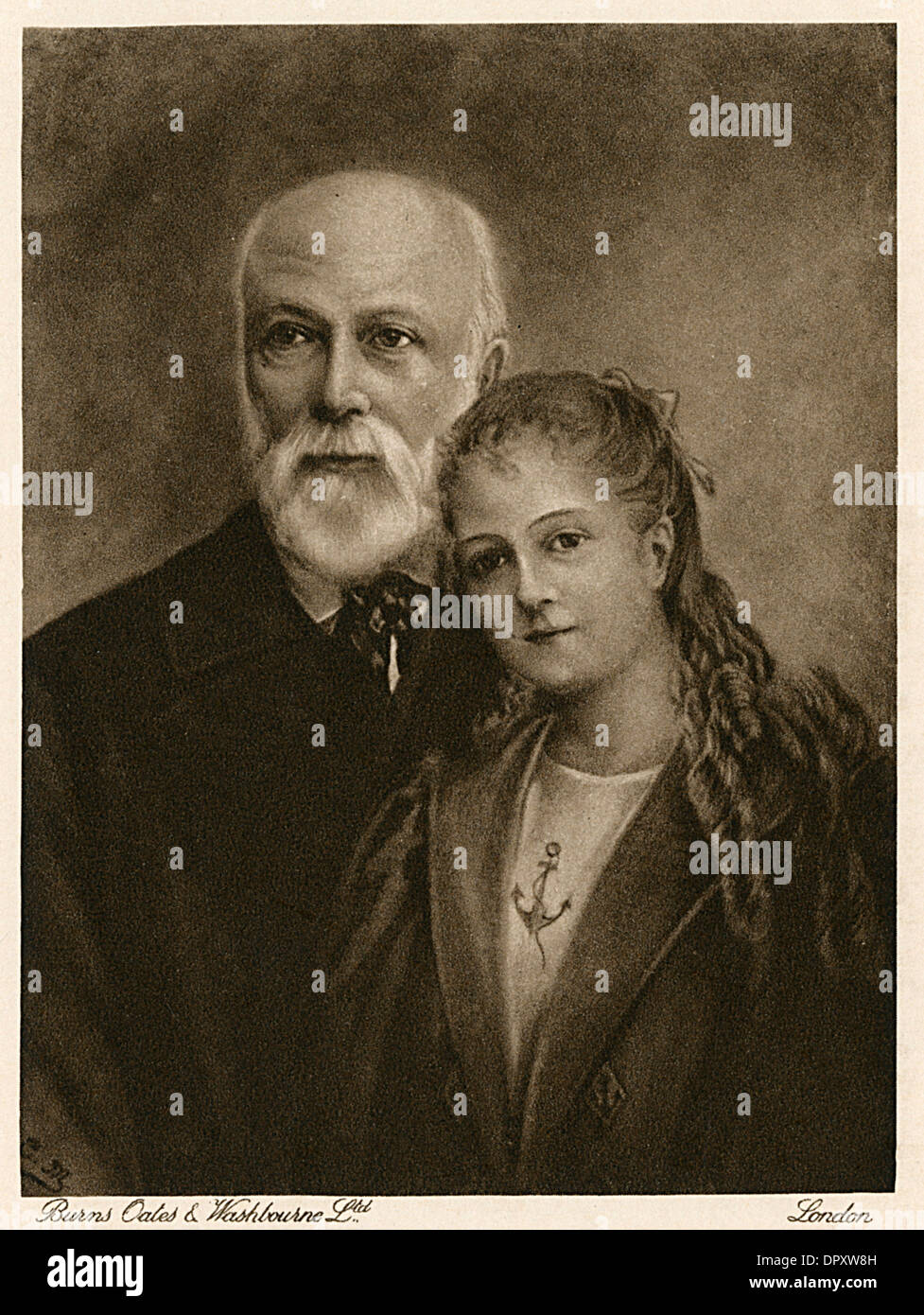 THERESE AND HER PAPA - Stock Image