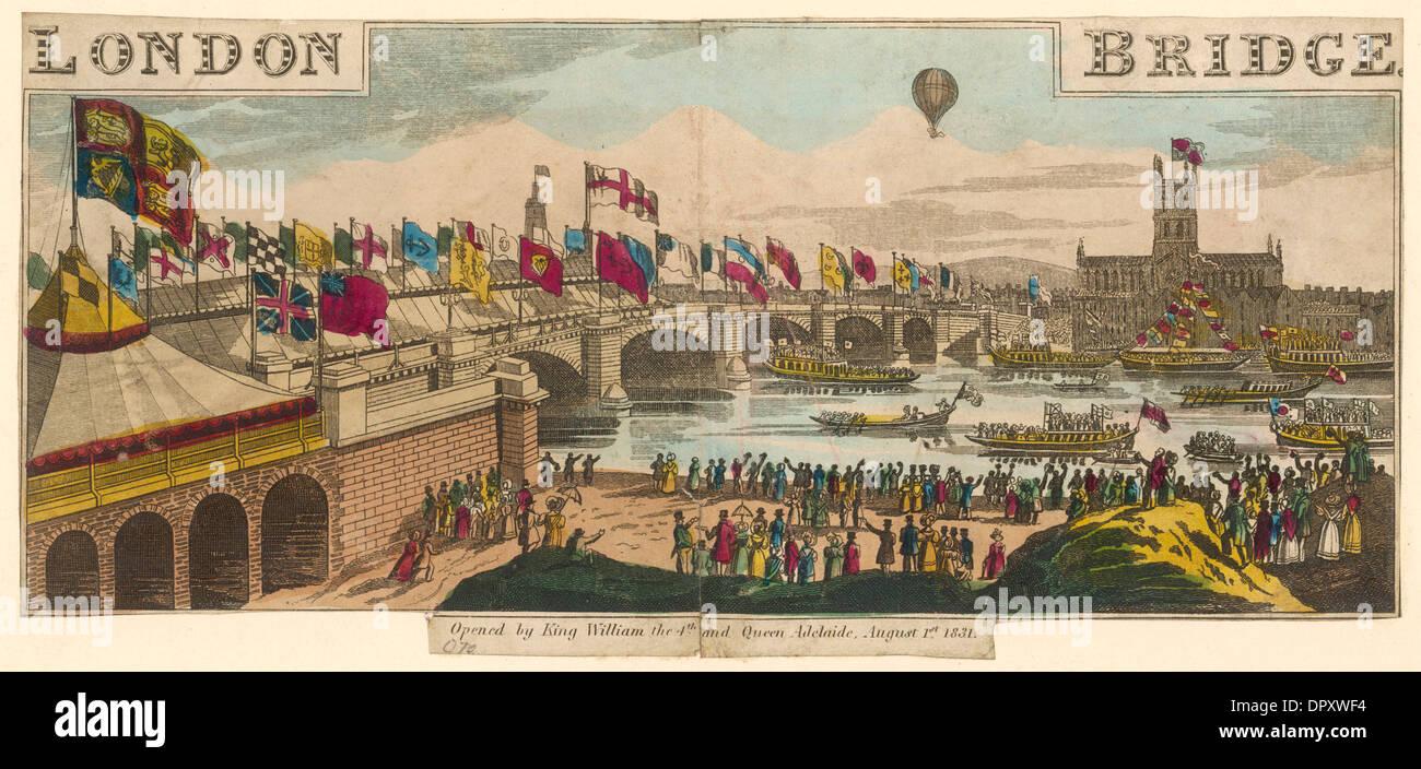 NEW LONDON BRIDGE OPEN - Stock Image