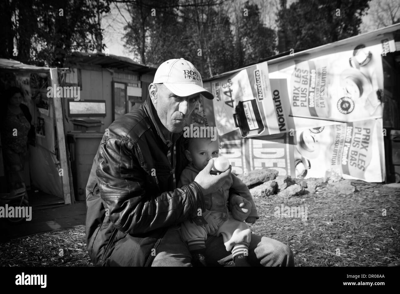 ROMANI CAMP - Stock Image