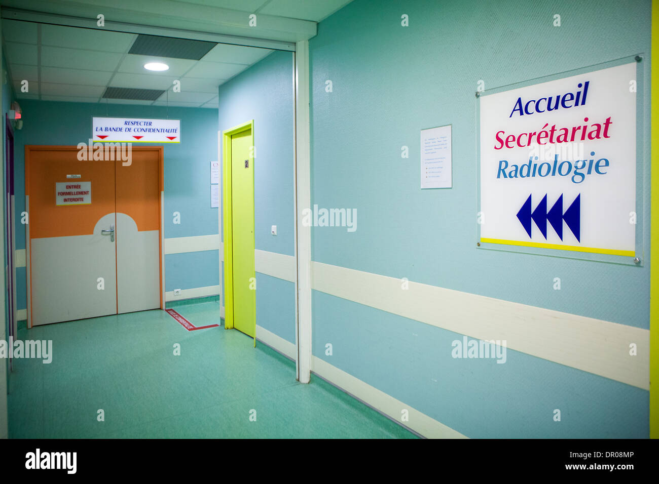 INTERIOR OF A HOSPITAL - Stock Image