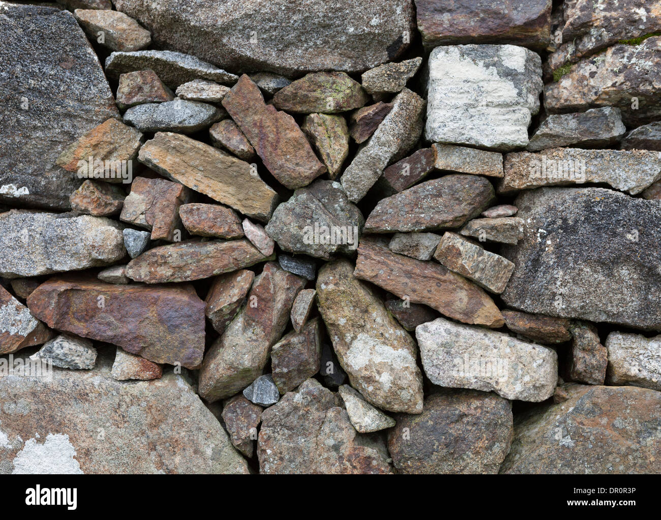 Wall detail from Roghedal, Isle of Harris, Outer Hebrides, Scotland - Stock Image
