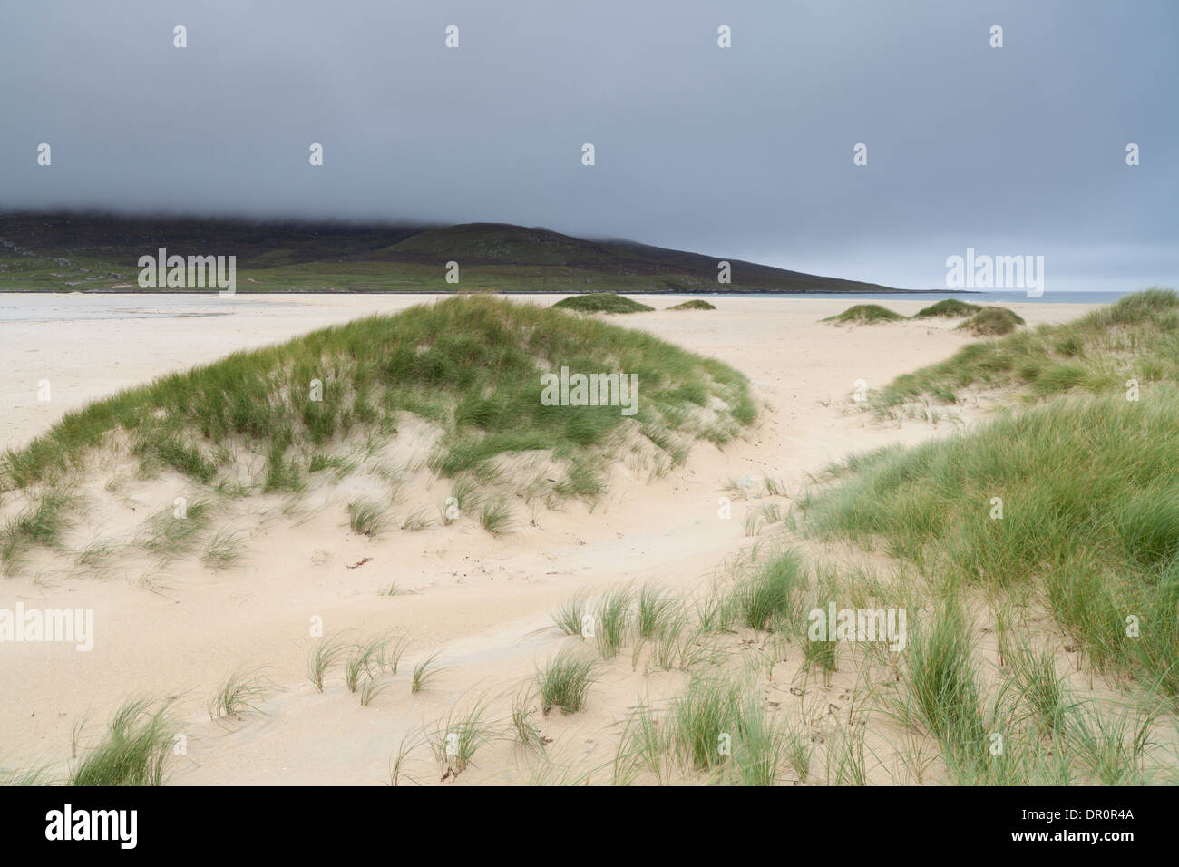 A view of the beautiful beach at Scarista, Isle of Harris, Outer Hebrides, Scotland - Stock Image