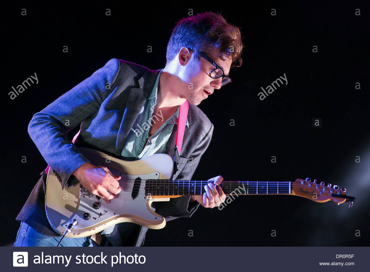 French band Phoenix performing live - Stock Image
