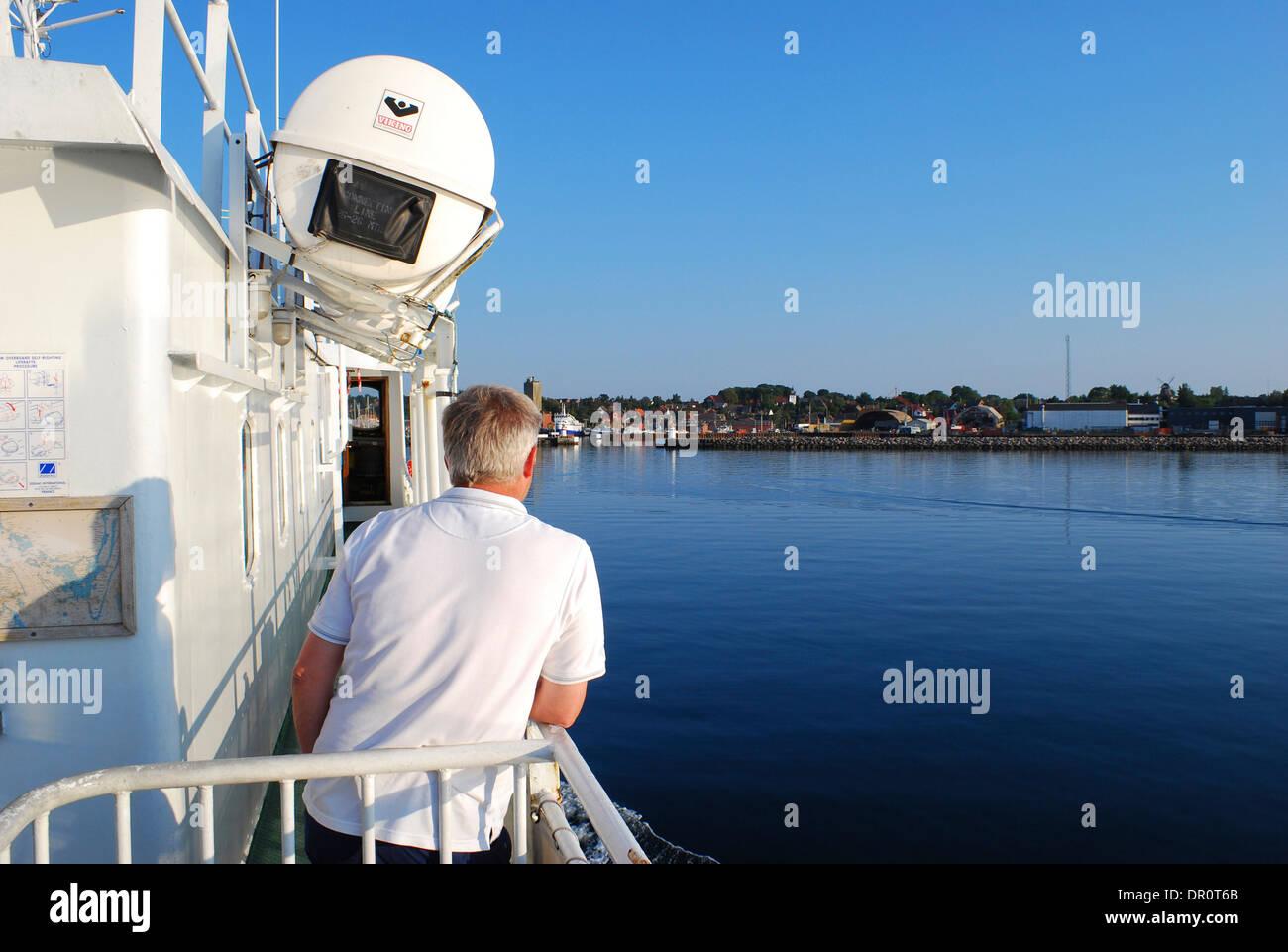 Aero island, ferry at soeby, fyn, Denmark, Scandinavia, Europe - Stock Image