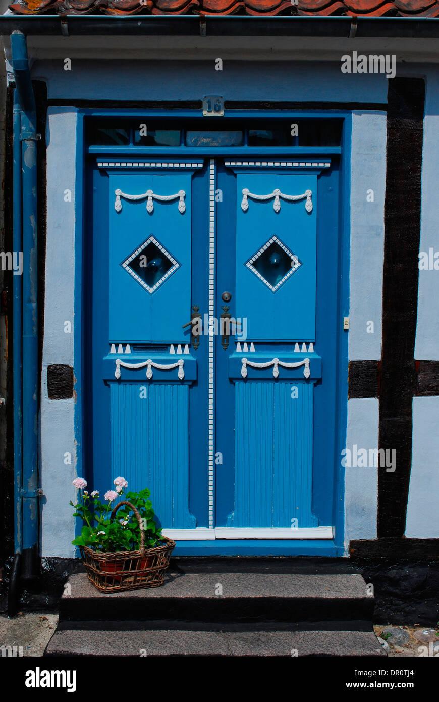 Aero island, old door in Aeroskobing, Fyn, Denmark, Scandinavia, Europe - Stock Image