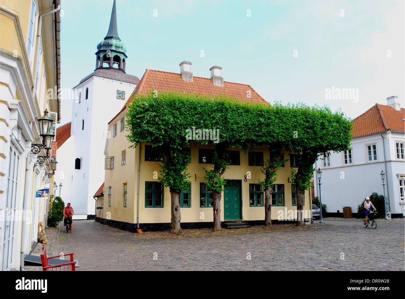 Aero island, Torvet  ( market square) of Aeroskobing, fyn, Denmark, Scandinavia - Stock Image