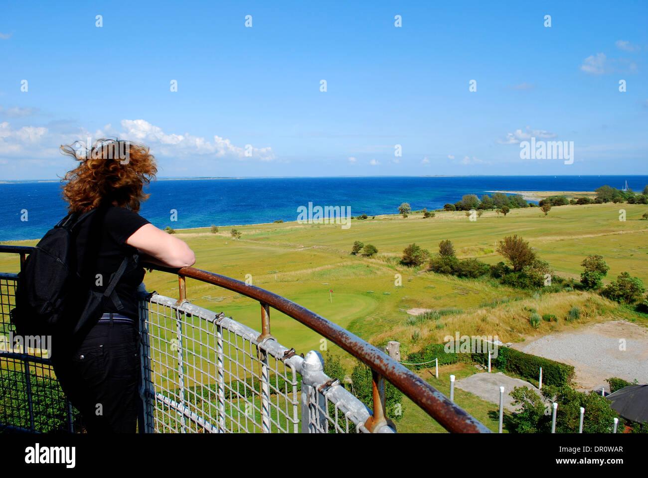 Aero, view from  Skjoldnaes lighthouse, fyn, Denmark, Scandinavia - Stock Image