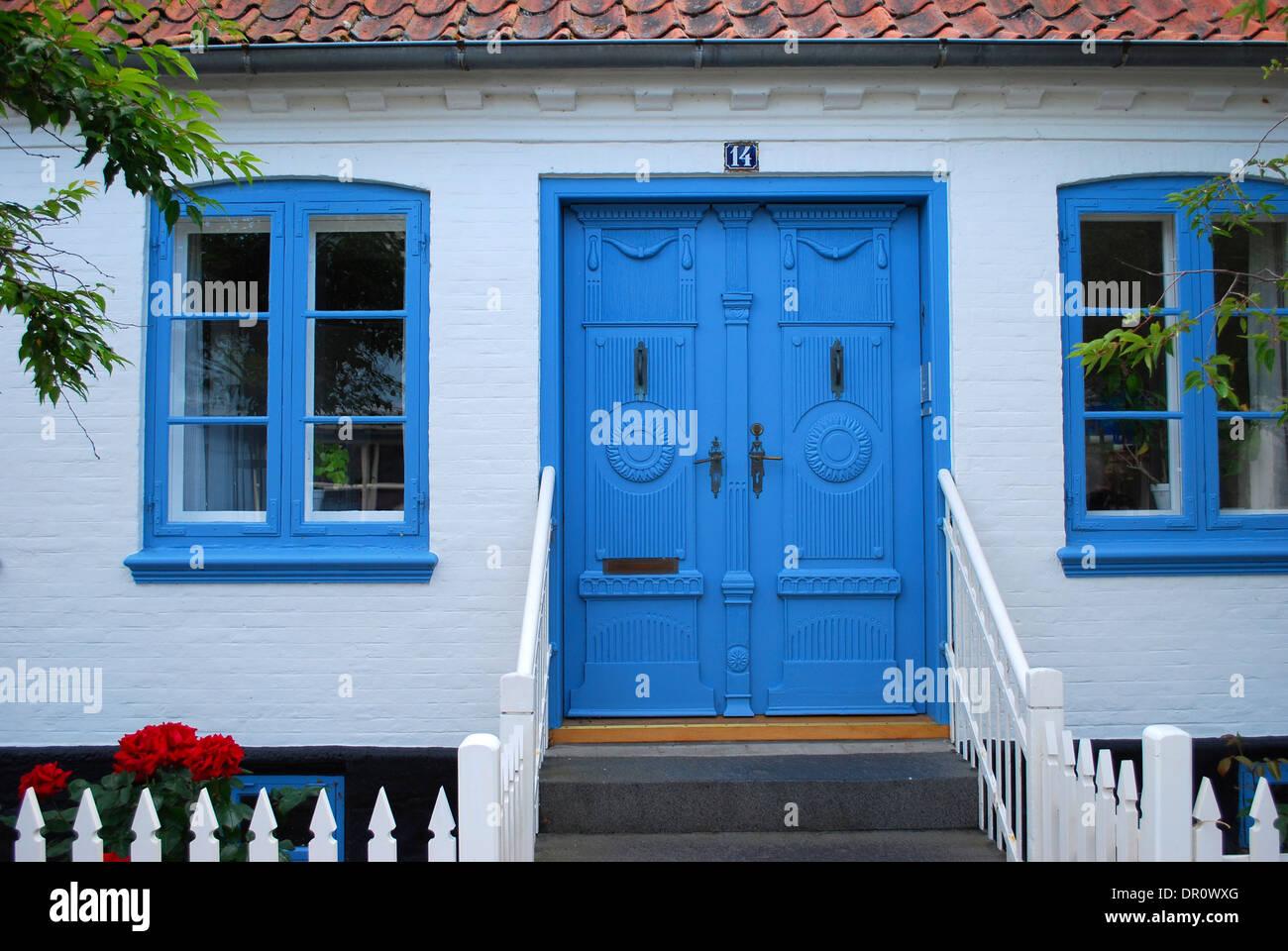Aero island, old door at Marstal, fyn, Denmark, Scandinavia - Stock Image