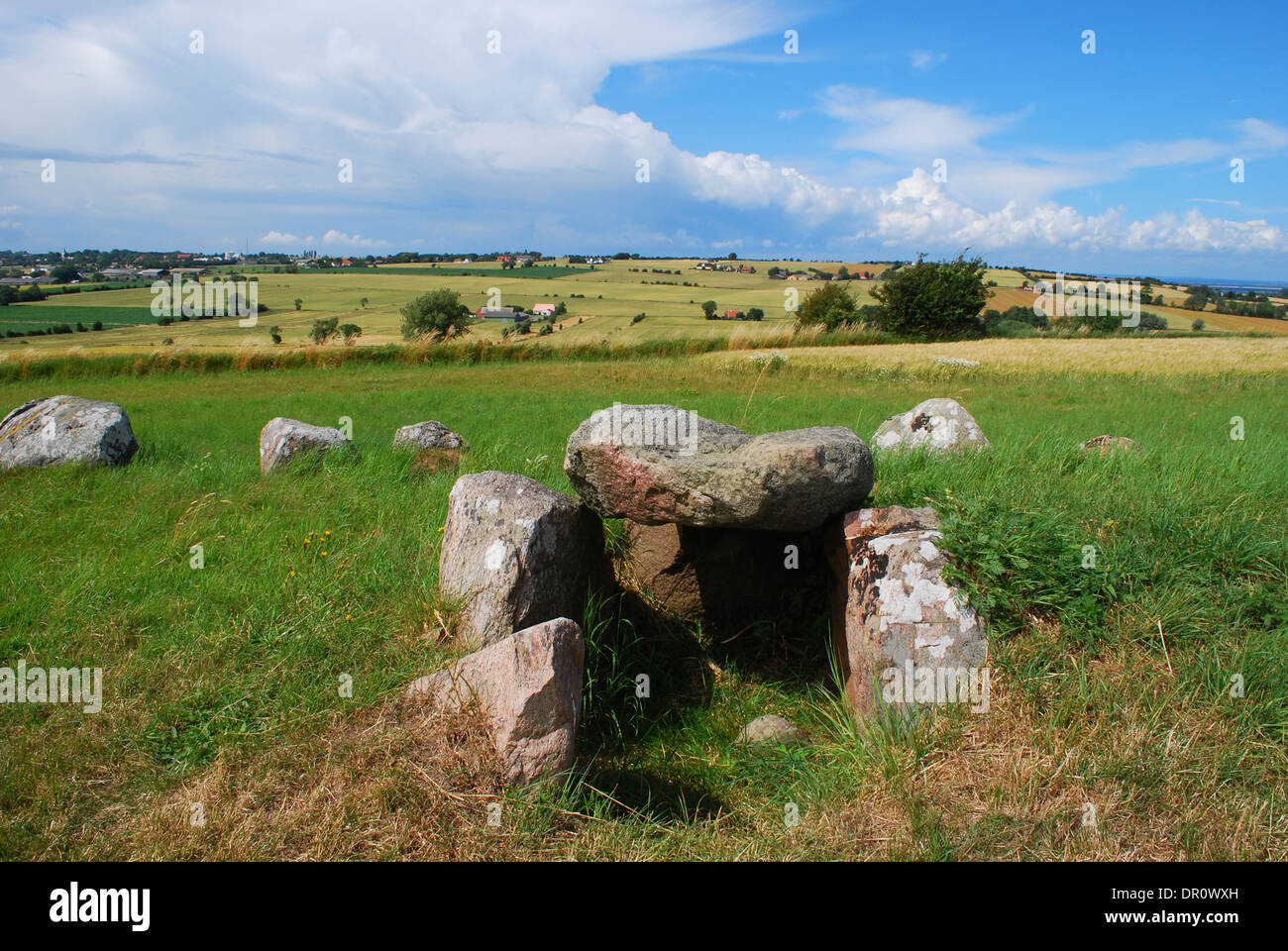 Aero island, historic grave at Lindsbjerg, fyn, Denmark, Scandinavia, Europe - Stock Image