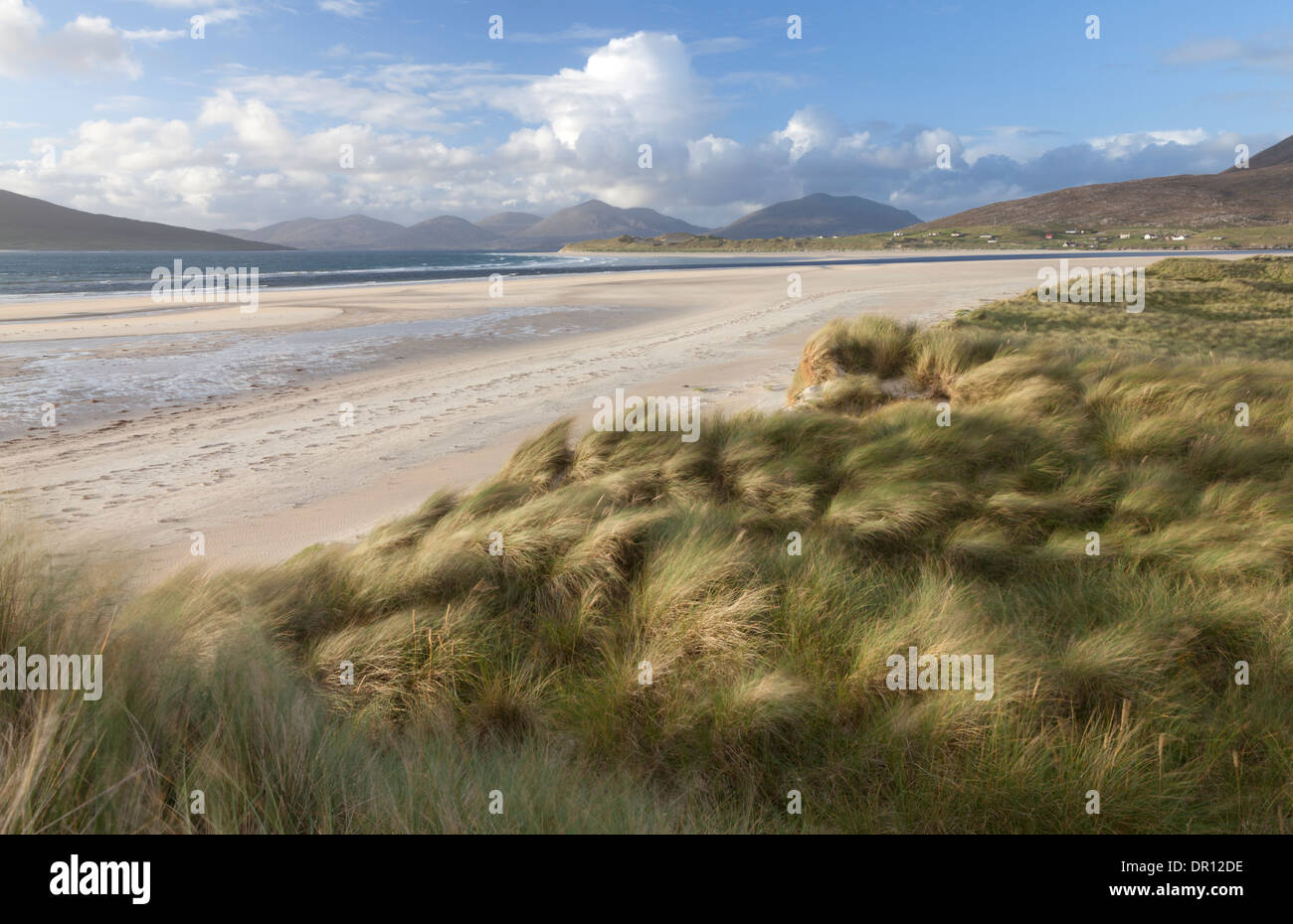 A view of the beach at Seilebost, Isle of Harris, Outer Hebrides, Scotland - Stock Image
