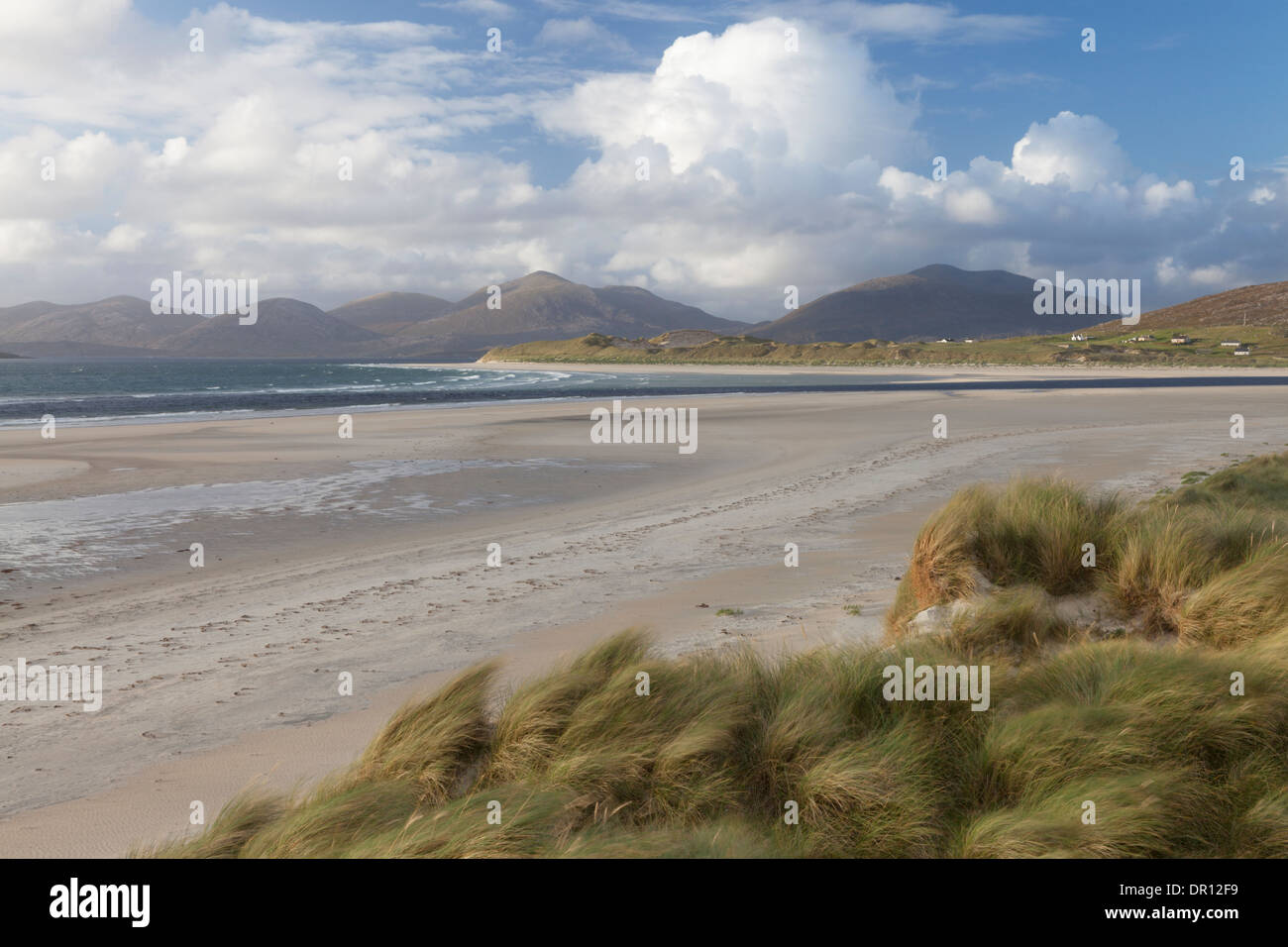 A view of the beach at Seilebost, Isle of Harris, Outer Hebrides, Scotland Stock Photo