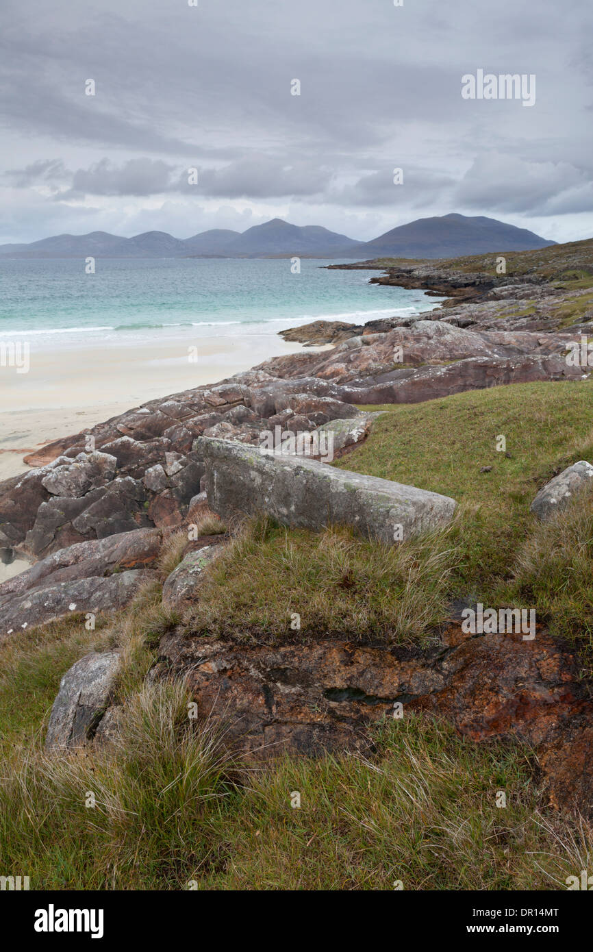The stunning dunes and beach at Luskentyre, Isle of Harris, Outer Hebrides, Scotland - Stock Image