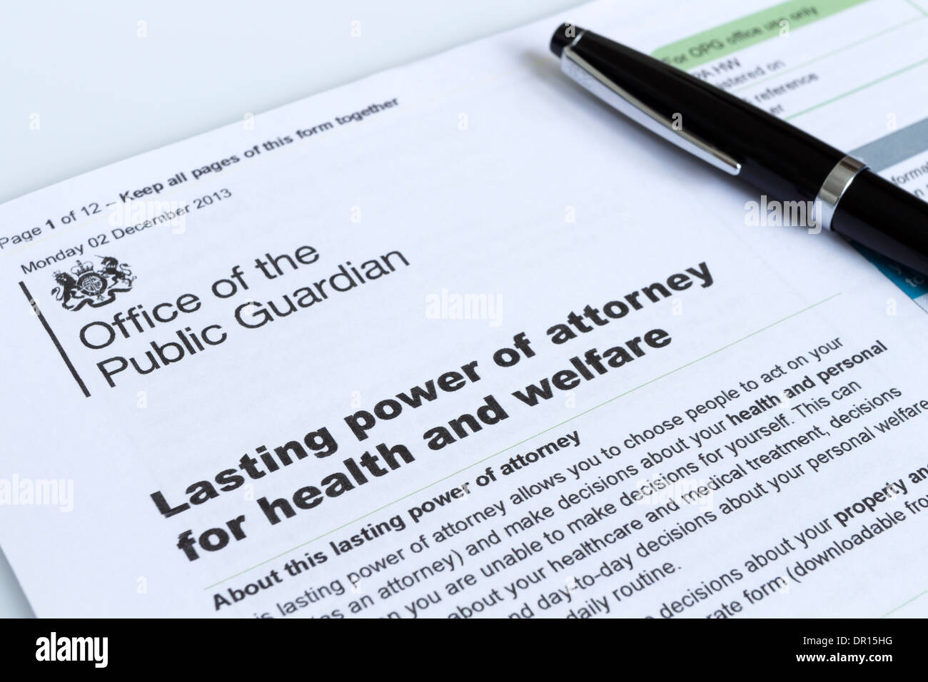 Lasting power of attorney for health and welfare form from the lasting power of attorney for health and welfare form from the office of the public guardian uk solutioingenieria Image collections