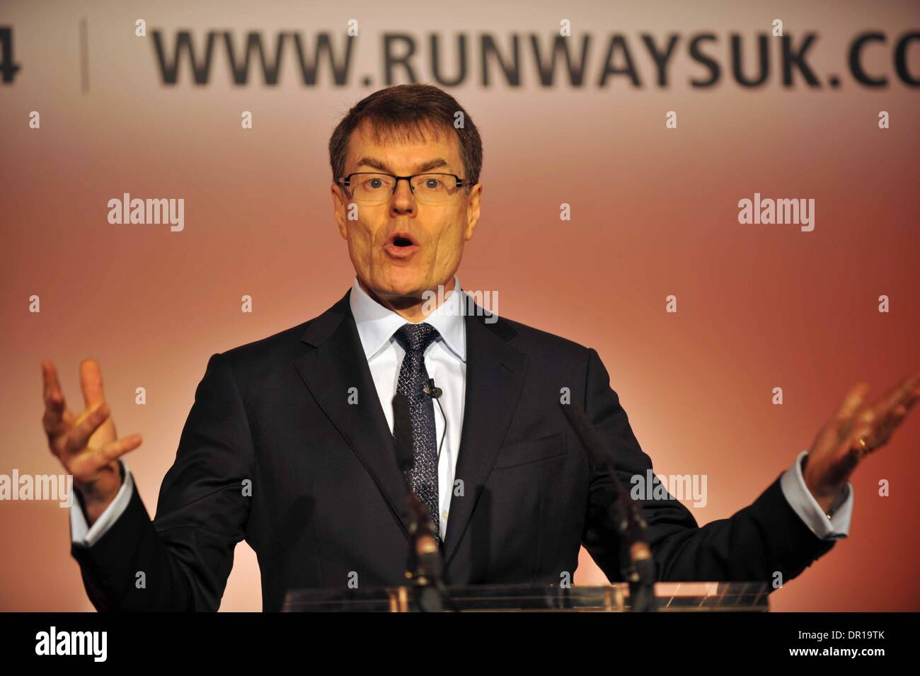 Runways UK conference, London. Britain, UK. Colin Matthews of Heathrow Airport. - Stock Image