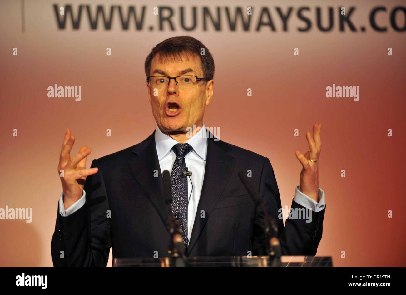 Runways UK conference, London. Britain, UK. Colin Matthews of Heathrow Airport.. - Stock Image